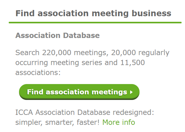 Access the ICCA Association Database