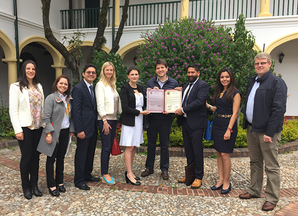 Greater Bogota Convention Bureau receives support for One Young World bid from the Council of of Bogota