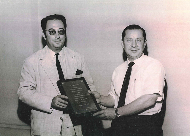 Two of ICCA's founding fathers: Jean Claude (Left) and Moises Shuster (right).