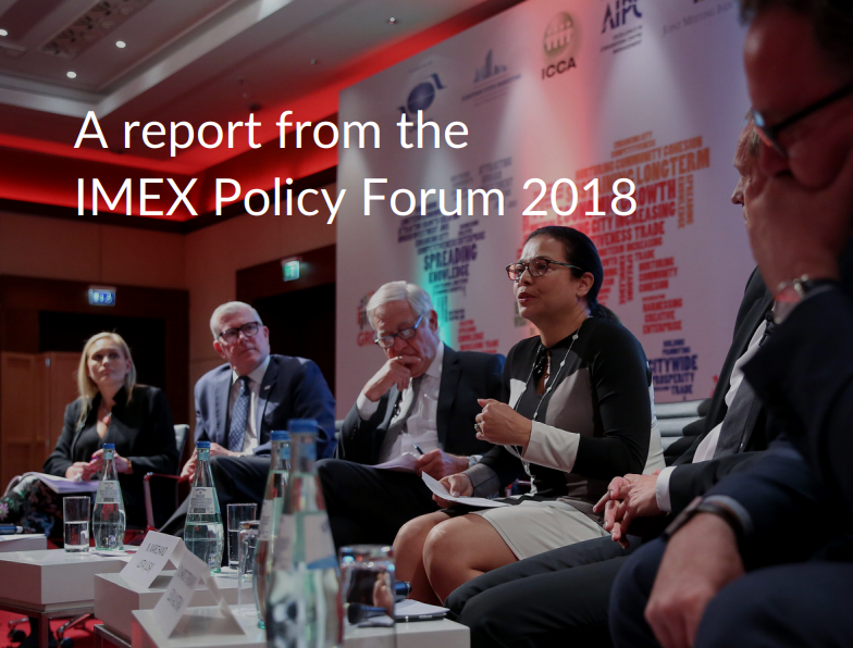 Front cover IMEX Policy Forum 2018 summary report