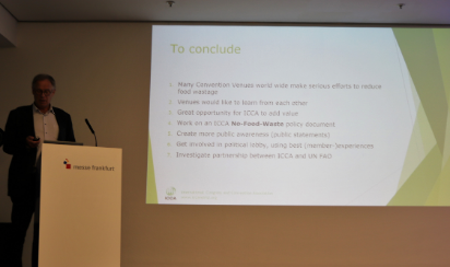 Following on from their zero food waste initiative that began back in 2017, ICCA Sector Venues presented the results of their Too Good to Waste initiative at their mid-year meeting on Monday 20 May at IMEX Frankfurt 2019.