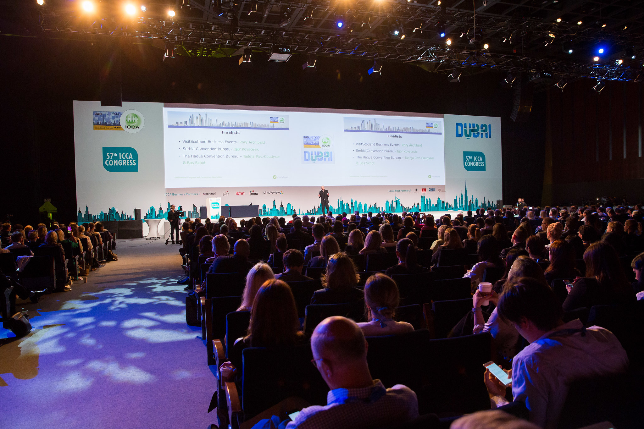 ICCA Members voting during the Best Marketing Award session at last year's ICCA Congress in Dubai