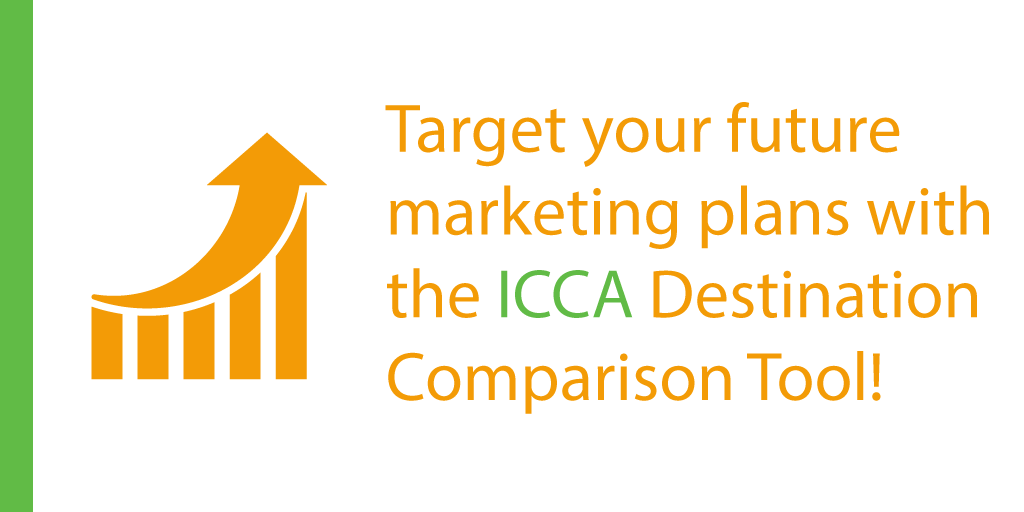 Analyse your current position in the international meeting market and target your future marketing plans with resources like the Destination Comparison Tool via the My ICCA Portal!